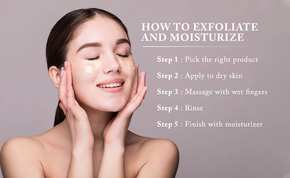 bridals skincare tips to exfoliate and moizturize skin