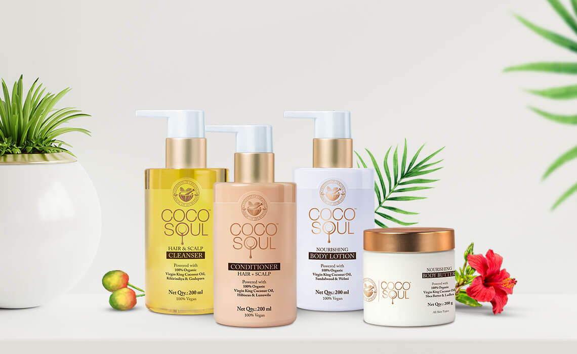 hair and skin care products for party season