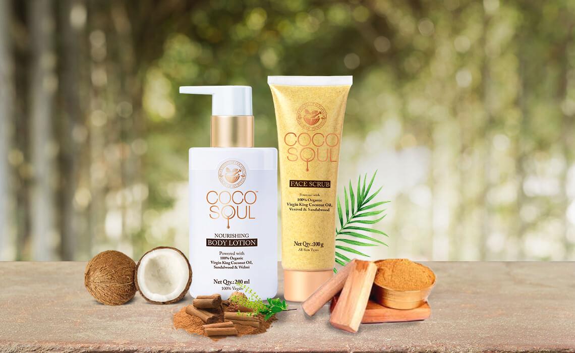 sandalwood body lotion and face scrub
