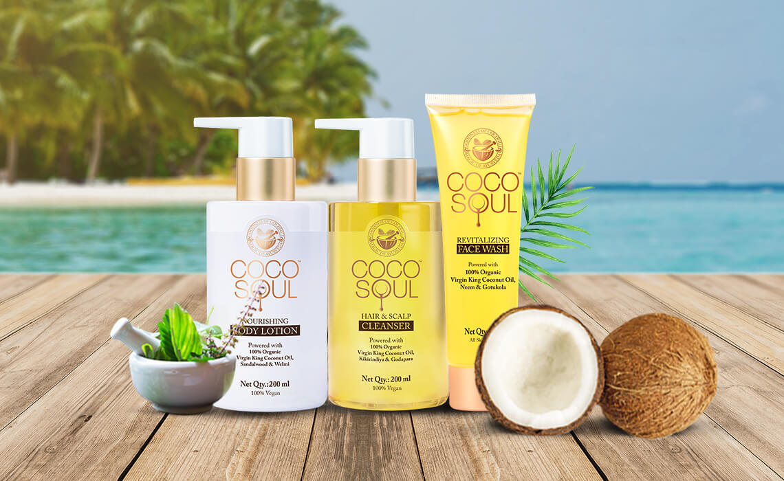 virgin coconut oil products for skin and hair