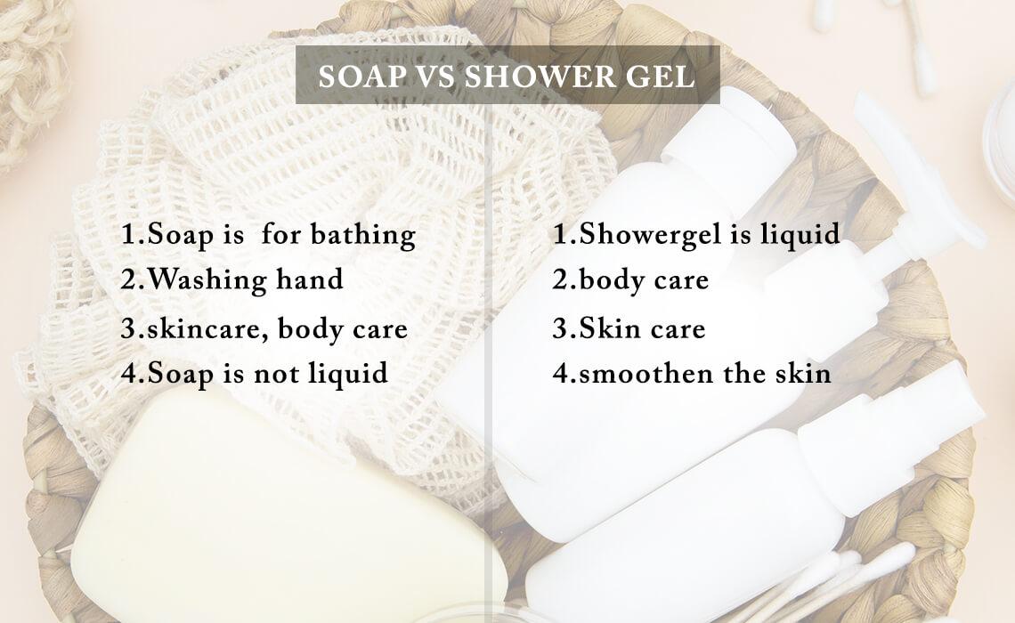 shower gel vs soap