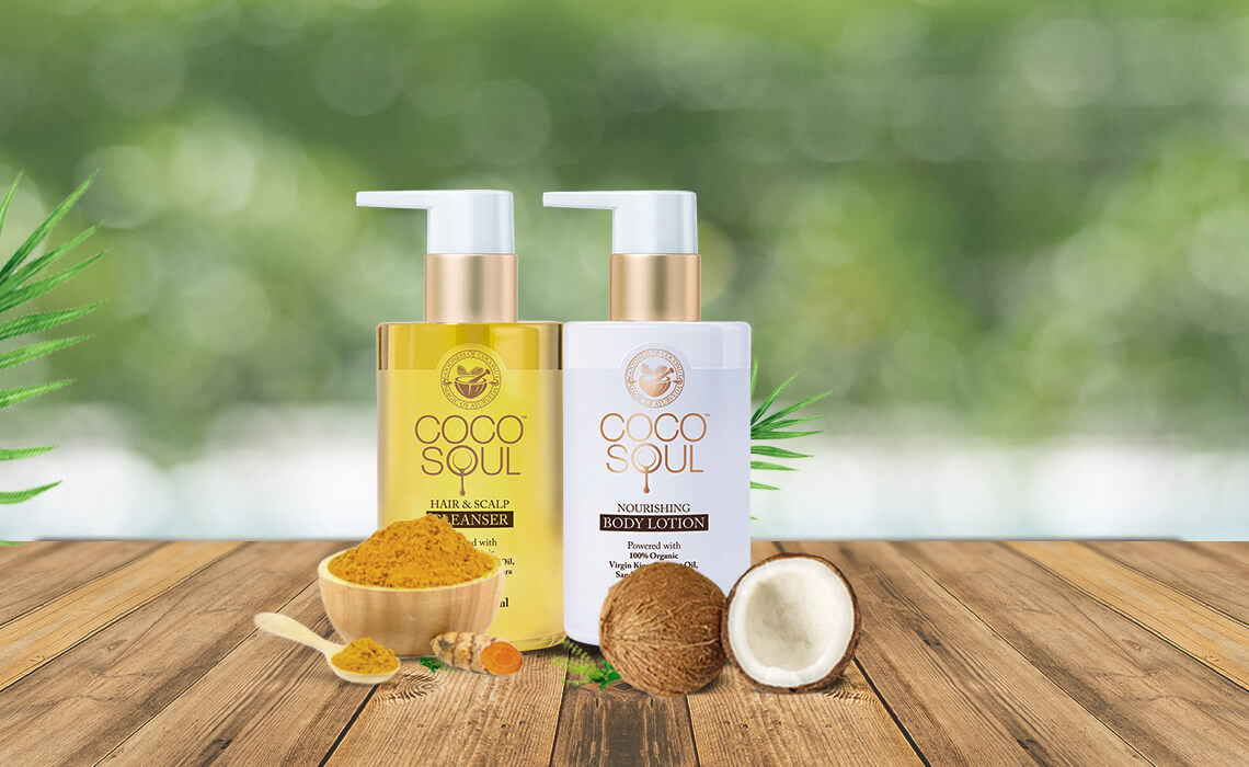 coconut oil body lotion and hair cleanser