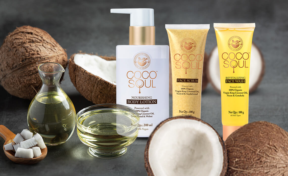 virgin coconut oil products for skin